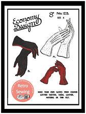 Ladies Gloves 1940s/50s Vintage Sewing Pattern Copy