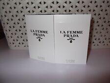 Women's La Femme Prada Milano Eau De Parfum Sample Sprays 2 x 1.5 ml New Release