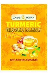 LOTUS TODAY, Turmeric Ginger Black Pepper Tea  *Strong *Turmeric Tea, Detox Tea