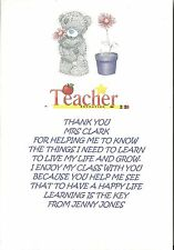 PERSONALISED THANK YOU TEACHER POEM LEAVING GRADUATION END OF TERM GIFT LAST DAY