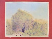 ⭐Israel Landscape Vintage Drawings Original By YOLA Signed Colored Art Pencil ⭐
