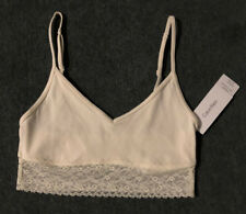 Calvin Klein: Size: S.(8-10) Starter IVORY/Lace Trim, Crop Top Adjustable Straps