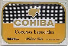 Cohiba Coronas embossed steel sign  300mm x 200mm (hi)