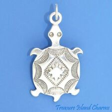 SOUTHWEST MOTIF NATIVE AMERICAN TURTLE .925 Sterling Silver Charm Pendant