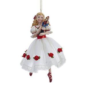 Clara in White Rose Dress Nutcracker Suite Ballet Christmas Tree Ornament C9252