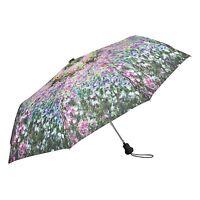 Taschenschirm Regenschirm Damen Kunst Motiv Blumen Claude Monet Der Garten