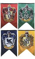 Harry Potter House Wall Banners: Slytherin, Hufflepuff, Gryffindor and RavenClaw