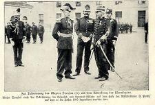 Major Dreyfus nach der Ehrung mit dem Ritterkreuz der Ehrenlegion 1906