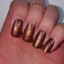 SHIMMERY MEDIUM DARK BROWN Shiny Nail Polish 15ml indie 5-free handmade pretty