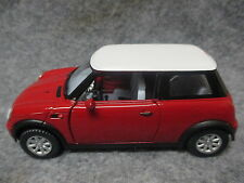 Kinsmart 1:28 Scale Diecast Mini Cooper Pull Back Friction Toy Car RED