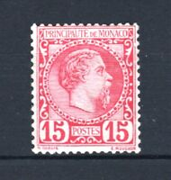 """MONACO STAMP TIMBRE N° 5 """" PRINCE CHARLES III 15c ROSE 1885 """" NEUF xx LUXE T217"""