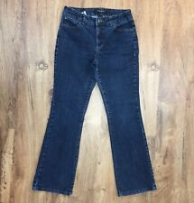 NINE WEST WEST END BOOTCUT JEANS Stretch Blue Denim Great Look Womens 6 Short