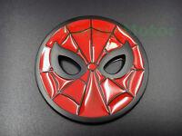Spider Man Face Mask Logo Car Sticker Metal Auto Emblem Decal Motorcycle Badge