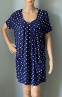 Joules Womens polka dot Shift Tunic dress Uk size 12 Blu And White Pockets Exc