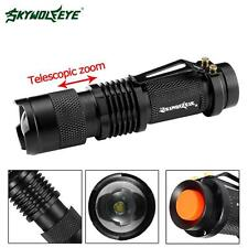 SKYWOLFEYE SK68 8000 Lumens CREE Q5 14500 AA ZOOM LED Flashlight Pocket Torch MT