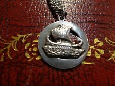 solid silver chain with danish pendant