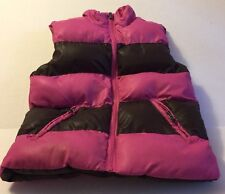 Girls Puffy Vest The Children's Place Brown Pink Reversible Winter Fall Xs 4