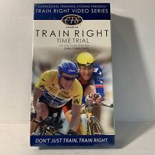 Carmichael Training Systems Train Right Time Trials Vhs Unopened