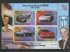 De Tomaso Automobiles 40 years mnh Miniature Sheet 1998 Senegal #1436 Cars