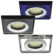 Einbau-Strahler Einbau-Spot Glas 230V GU10 GU5,3 LED Einbauleuchte Moyta