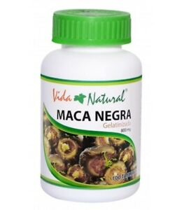 Gelatinized Black Maca 1 Bottle of 100 capsules (800 mg / caps.) Male and Female