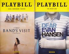 Playbills Chicago: The Cher Show, Broadway: The Bands Visit, Dear Evan Hansen