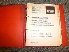 Hatz E80G E85G E89G E80FG E85FG E89FG Diesel Engine Service Repair Manual Book
