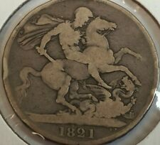 1821 Great Britain 1 crown silver coin