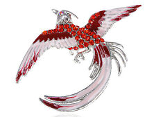 Clear Crystal Rhinestone Phoenix Rebirth Life Eagle Bird Costume New Pin Brooch