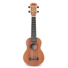 Guitarra Ukelele En Caoba 21 Púa 15 Casquillos Sujeción Soprano Uke Nuevo Barato