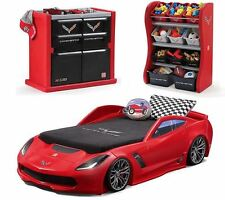 Kids Bedroom Furniture Sets Corvette Bed Dresser Toy Box Converts Toddler toTwin