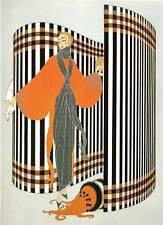 "ORIGINALE VINTAGE Erte Art Deco Print ""Coquette"" FASHION BOOK Piastra"