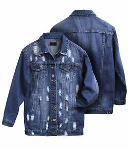 Girls Denim Jacket Blue Jean Jackets Longline Age 7 8 9 10 12 14 16 Years