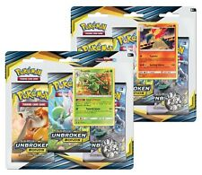POKEMON UNBROKEN BONDS 1 BLISTER= 3 PACK WITH TYPHLOSION OR SCEPTILE PROMO CARD