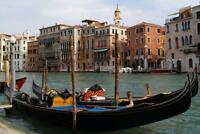 Gondola in Canals of Venice Italy Photo Art Print Mural Poster 36x54 inch