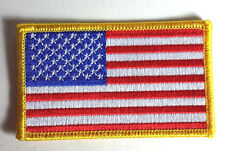 "Stargate Atlantis 3.5"" American Flag Uniform Patch w Gold Border-FREE S&H(SGPA)"