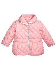 First Impressions Baby Girls Quilted Barn Jacket, Pink/Silver, 3-6 Months