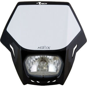 Racetech  Mx Matrix Black RTECH Universal Dirt Bike Off Road Bike Headlight