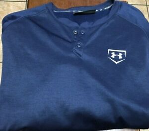Under Armour 1/4 snap Pullover size XXL blue