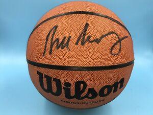 New Knicks Bill Bradley Signed Full Size Wilson Pro NBA I/O Basketball