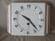 Horloge ancienne  vintage murale Marque JAZ MADE IN FRANCE céramique faïence