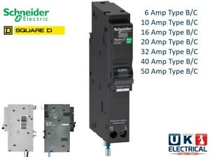 Schneider Square D QOvs QOE RCBOs 6a 10a 16a 20a 32a 40a 50a Amp Type B C 30mA