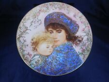 "Edna Hibel 1987 Mothers Day Plate ""Catherine & Heather"" by Knowles China (M4)"