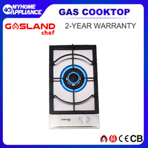 GASLAND chef 30CM Stainless Steel Gas Cooktop Cast iron CapSingle Burners Stove