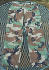 USA Military Issue BDU Trousers Woodland Camouflage BDU CARGO Pants Med-Reg
