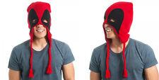 New Marvel Comics Deadpool Mask Red/Black HAT Beanie CAP Knit Winter HAT Beanie