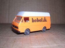 """Wiking #304 Volkswagon Lt28 Van """"Hebel"""" - Orange - Imported 1980"""