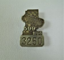 1964 Indianapolis 500 Silver Pit Badge A.J. Foyt Watson / Offy