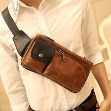 Men's Handbag PU Leather Sling Messenger Shoulder Bag Chest Pack Sports Backpack