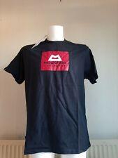 Mountain Equipment men's red box logo tee black large